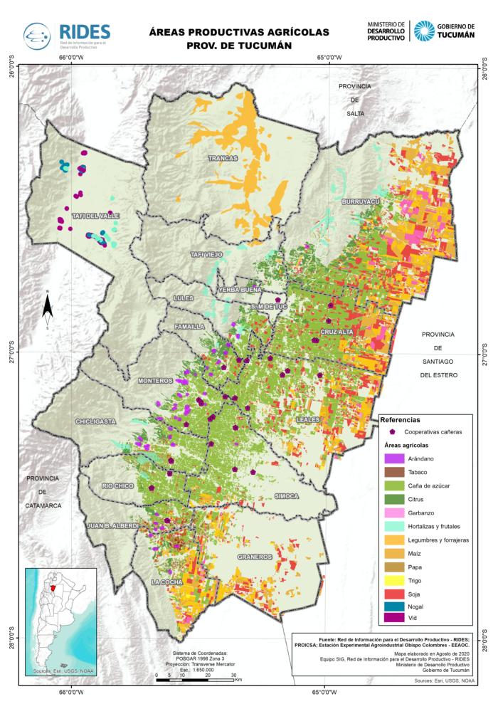 Imagen del Mapa de Áreas Productivas Agrícolas