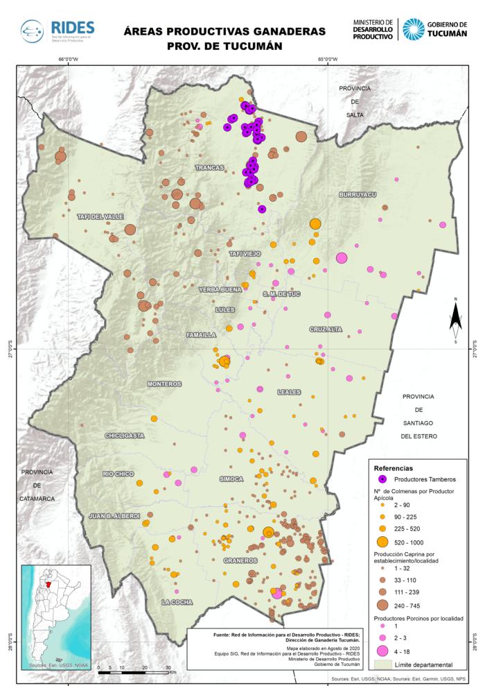 Imagen del Mapa de Áreas Productivas Ganaderas